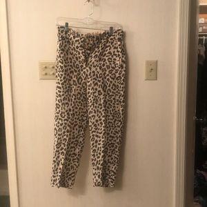 Leopard Jcrew pant